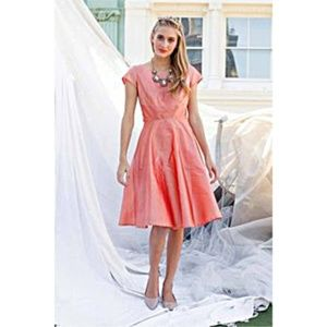Shabby Apple Iridescent Peach Bleecker Dress NWT